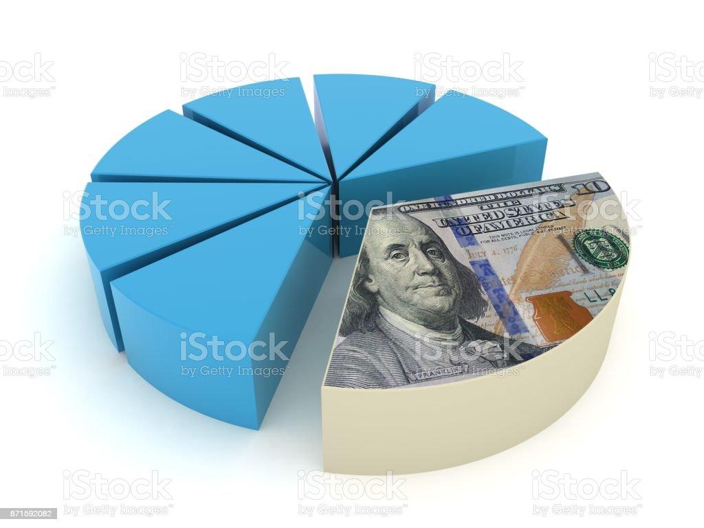 Tax payment money new us dollar stock photo