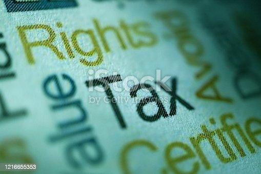 shot of word tax
