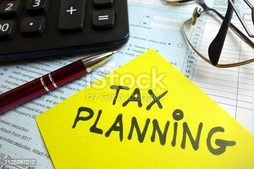 istock Tax planning 1125097212