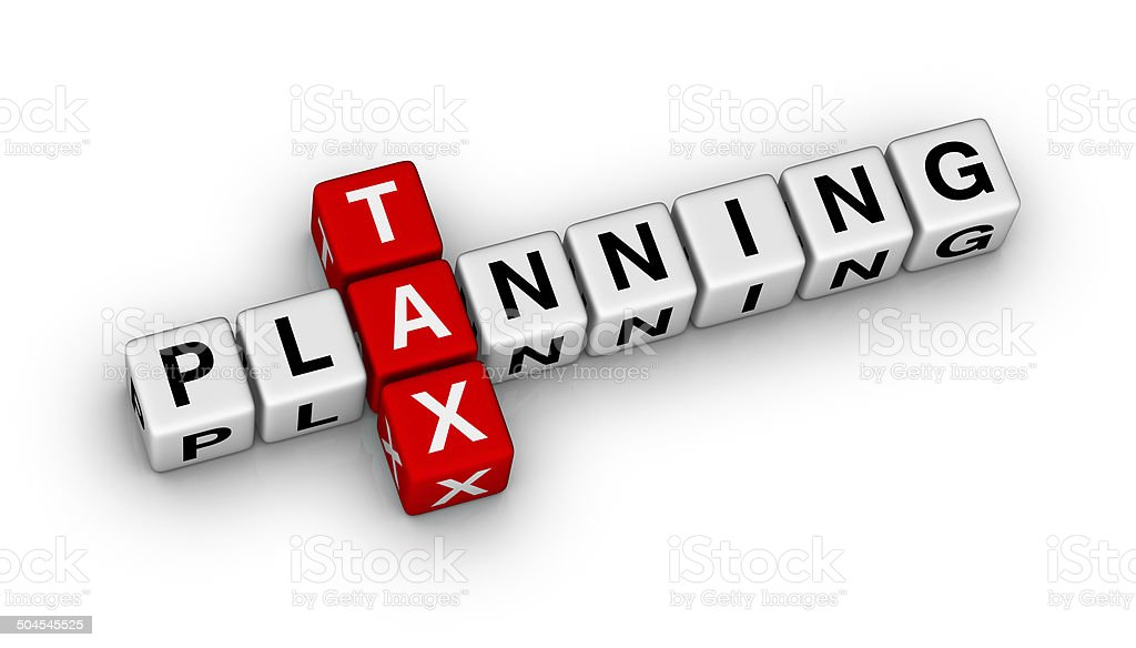 tax planning stock photo