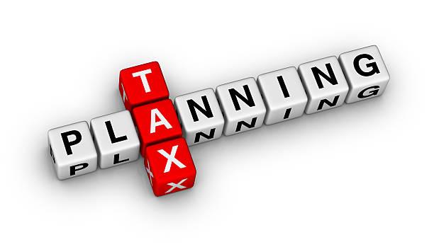 tax planning stock photo