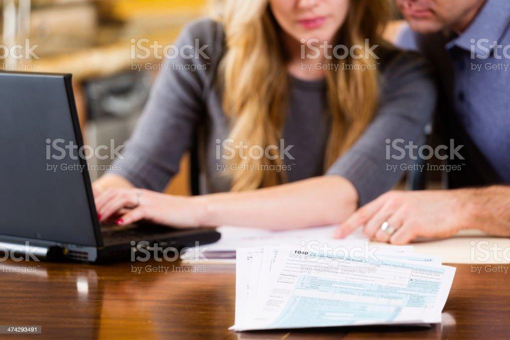 Tax Preparation royalty-free stock photo