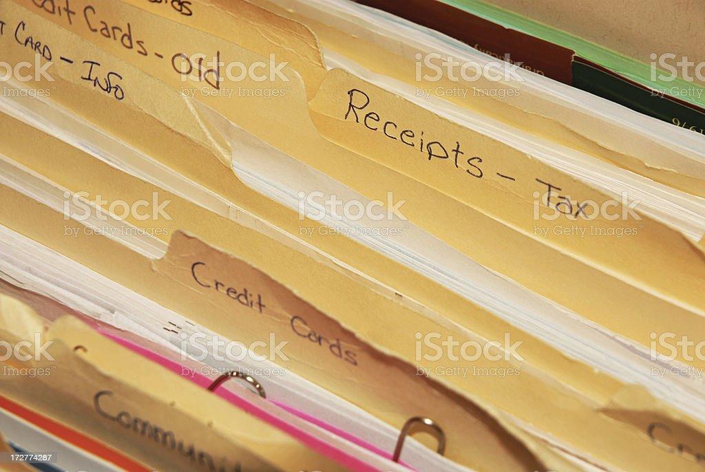 Tax Receipts File Folder royalty-free stock photo