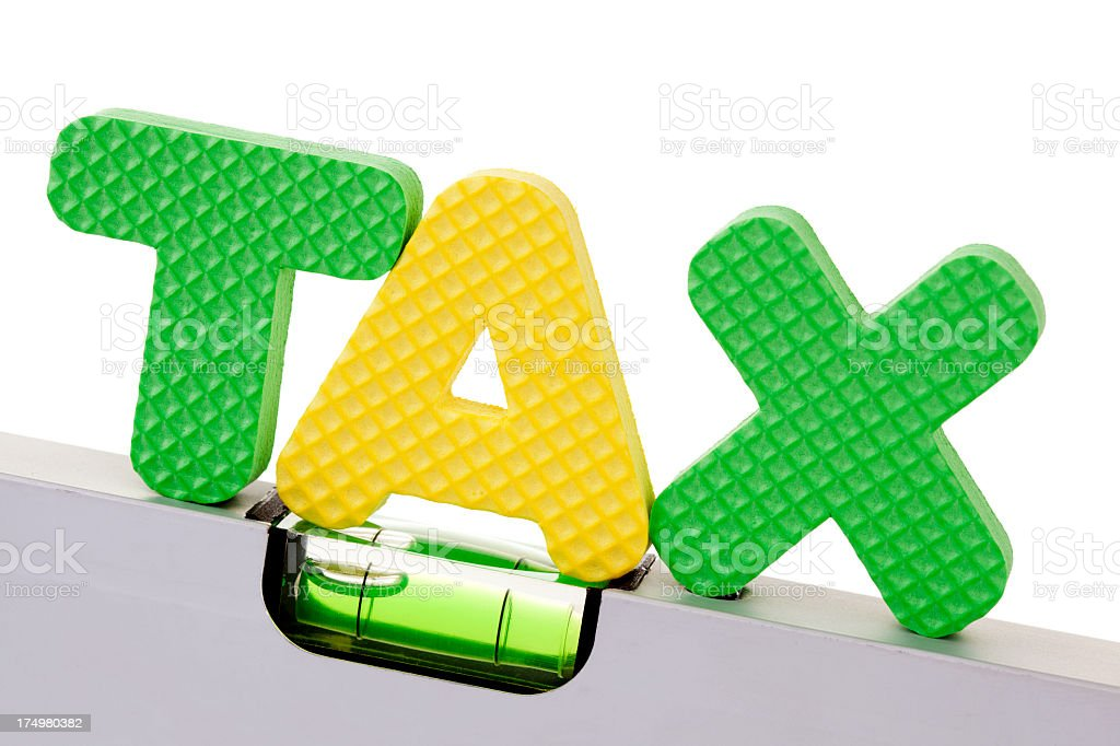 tax reduced stock photo