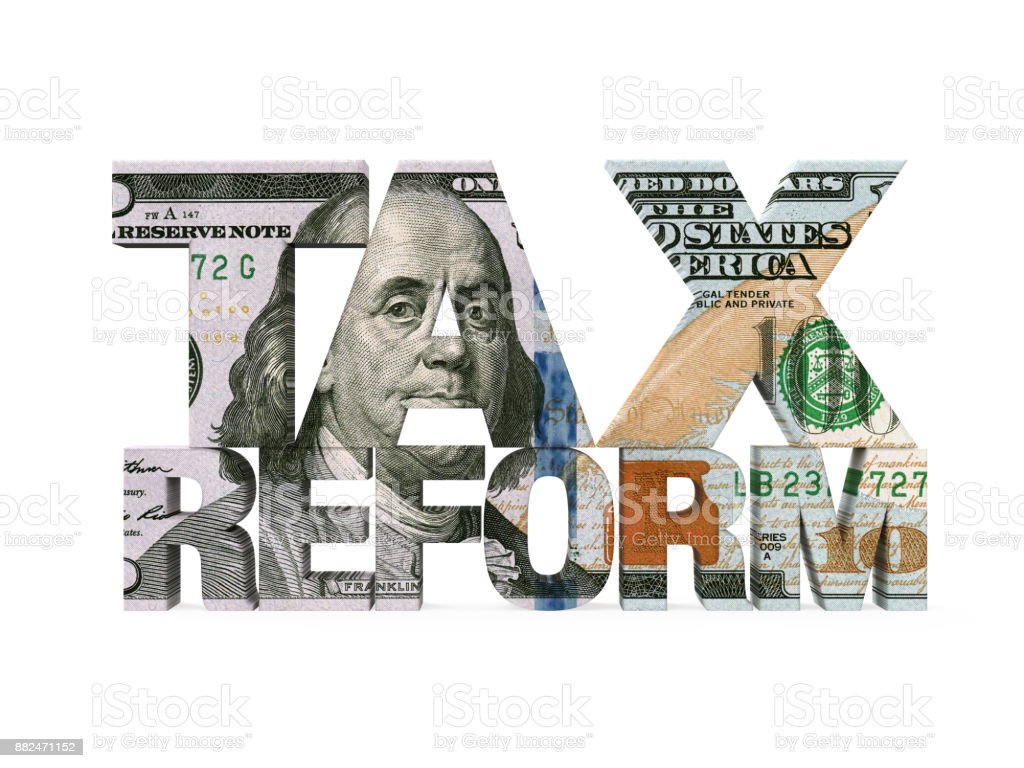 Tax Reform Dollar Isolated stock photo
