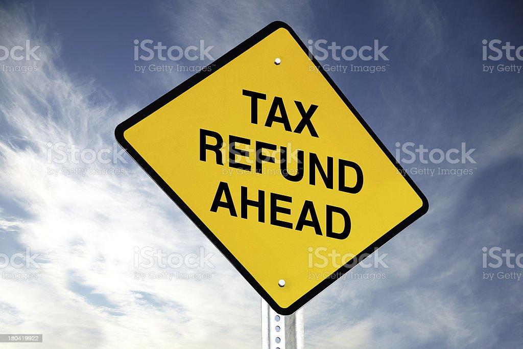 Tax refund ahead royalty-free stock photo