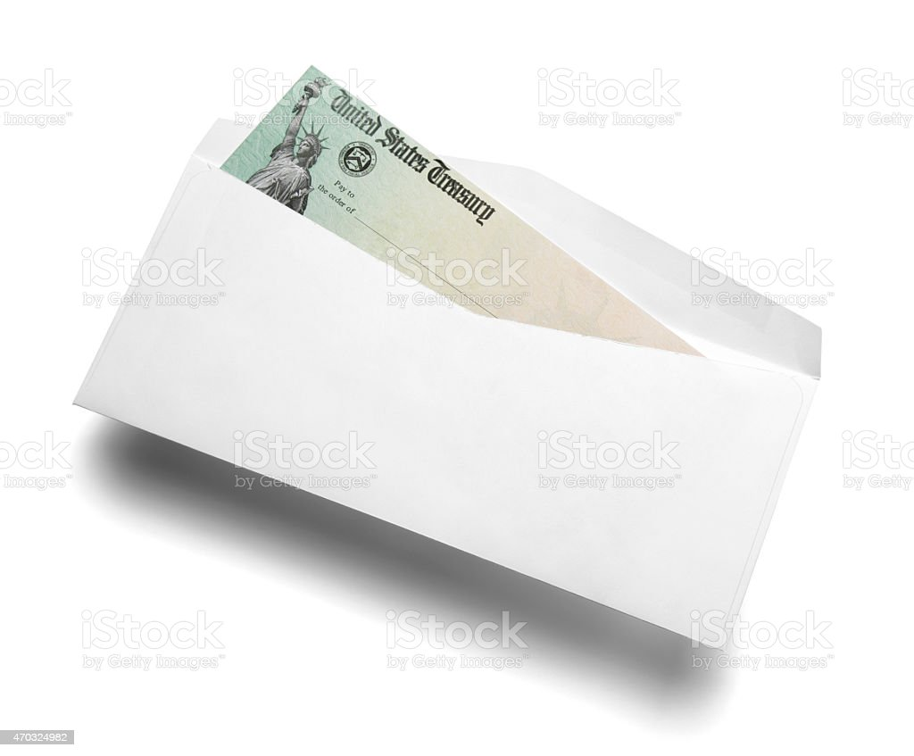 Us tax refund check stock photo 470324982 istock check financial item envelope mail single object statue of liberty us tax sciox Image collections