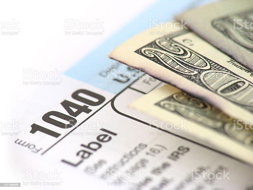 Tax Refund royalty-free stock photo
