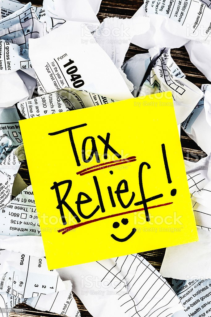 Tax Relief! stock photo