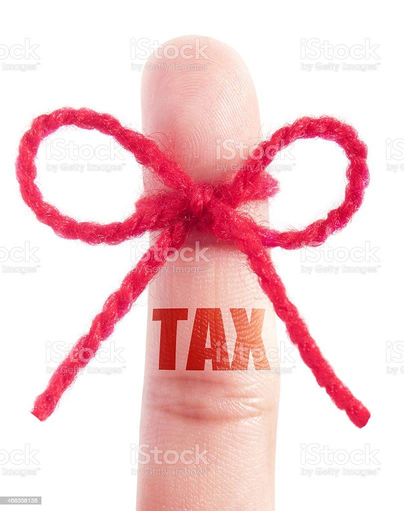 Tax reminder royalty-free stock photo