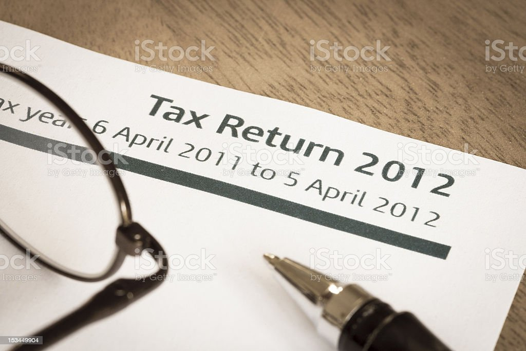 Tax return 2012 royalty-free stock photo