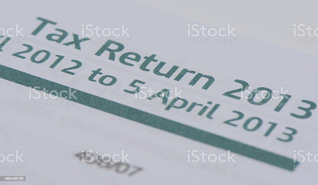 Tax Return 2013 royalty-free stock photo