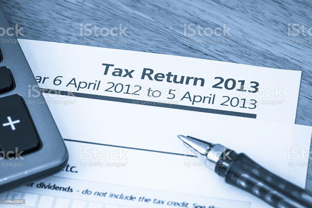 UK tax return 2013 royalty-free stock photo