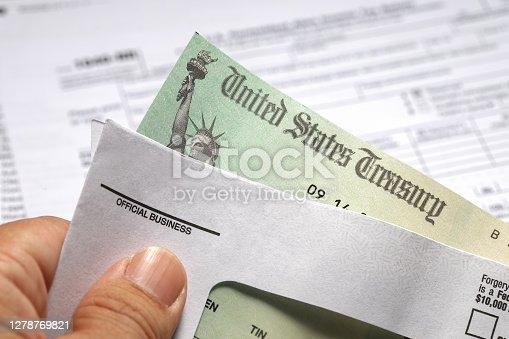 istock Tax return check 1278769821