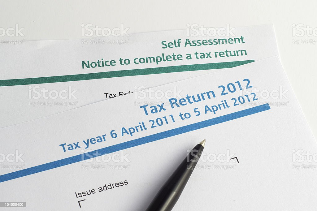 Tax return due royalty-free stock photo