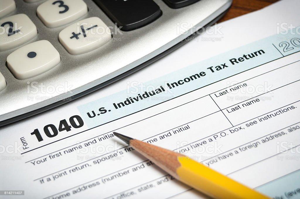 Tax return form stock photo