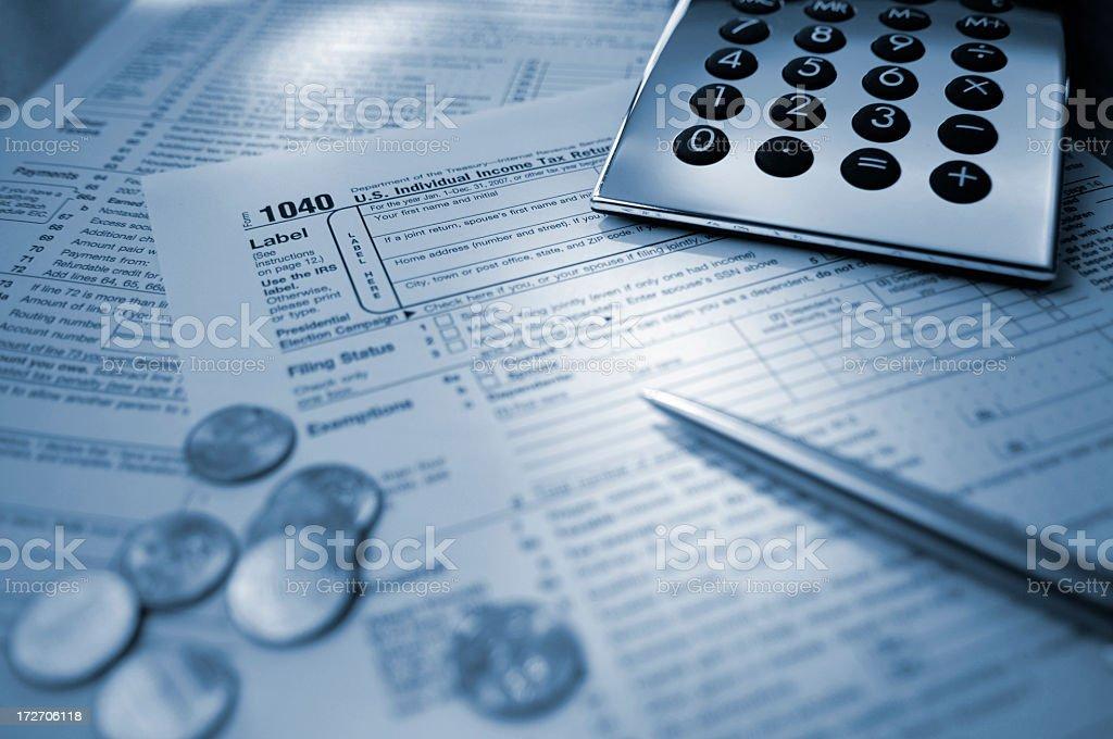 US Tax Return stock photo