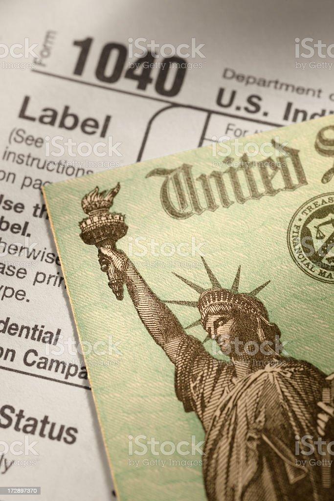 Tax Return royalty-free stock photo