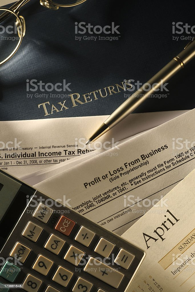 Tax Returns royalty-free stock photo