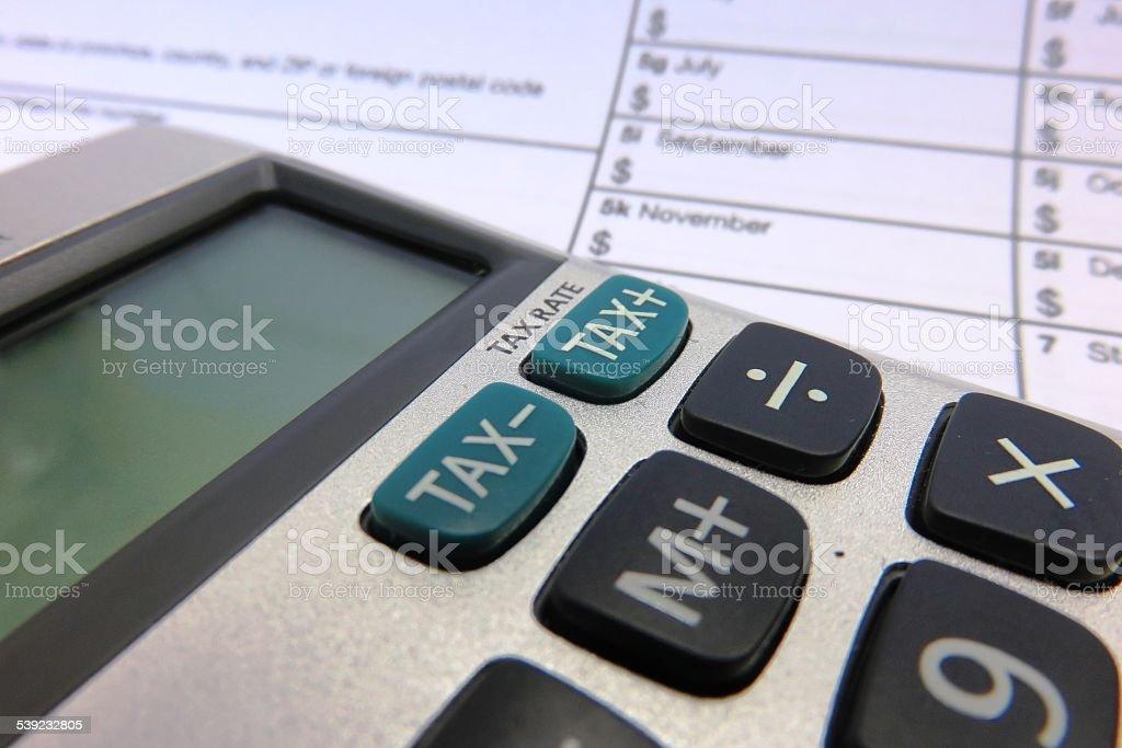 As devoluções de impostos foto royalty-free