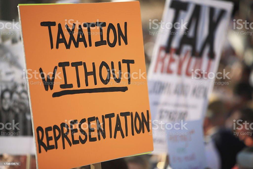 Tax Revolt 2009 Series royalty-free stock photo