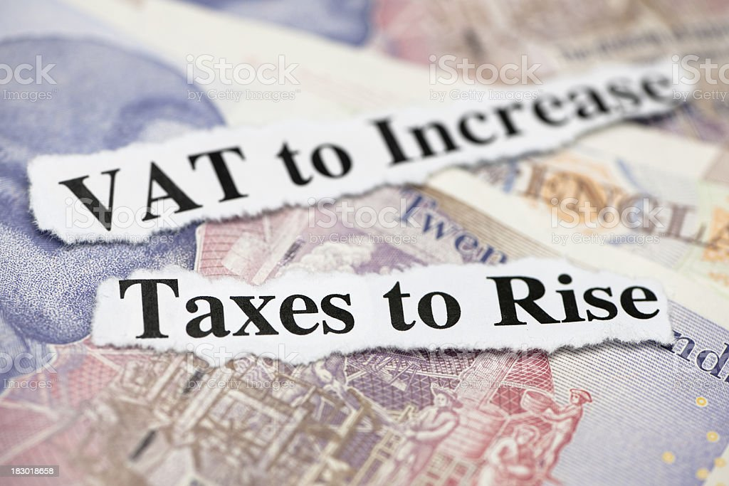 Tax Rises royalty-free stock photo