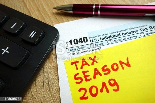 istock Tax season 2019 1125095754