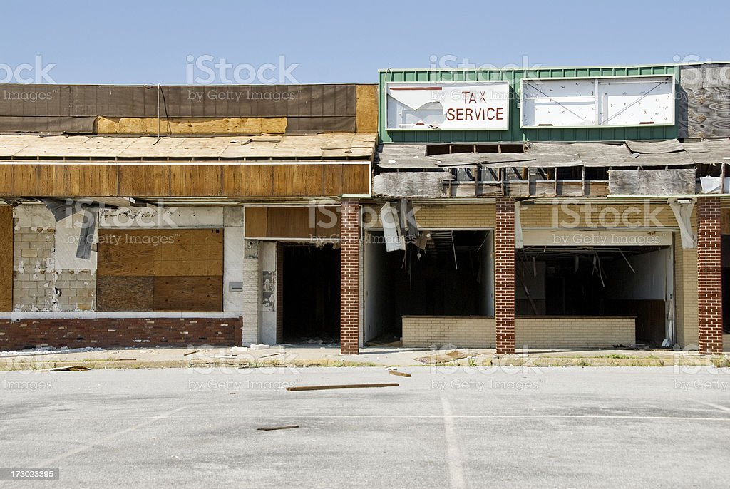 Tax Service Business Shows Economy Collapse stock photo