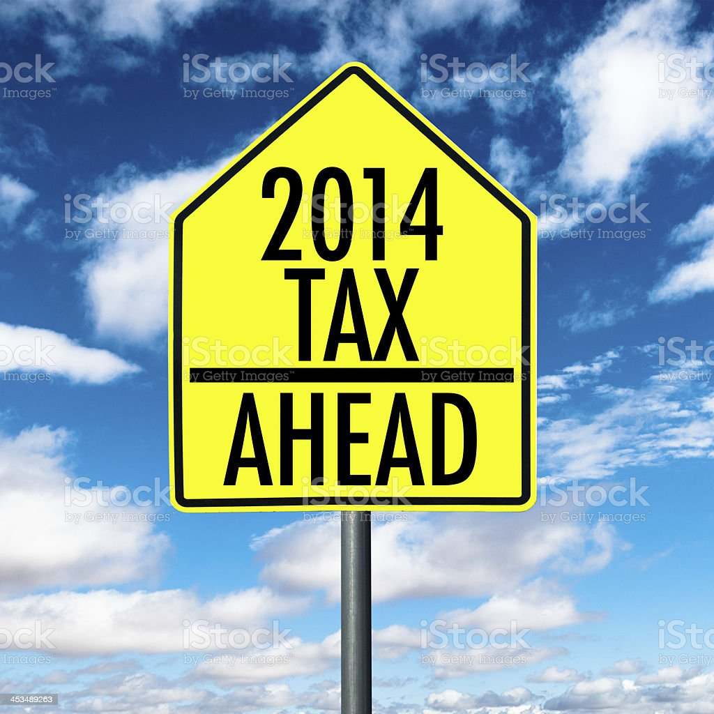 tax sign royalty-free stock photo