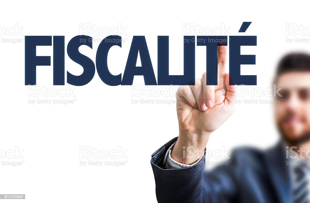 Tax System (in French) stock photo