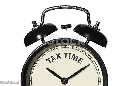 Tax time alarm clock reminder