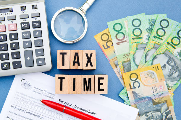 Tax Time - Australia stock photo