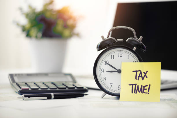 Tax time concept, accountancy, tax refund concept stock photo