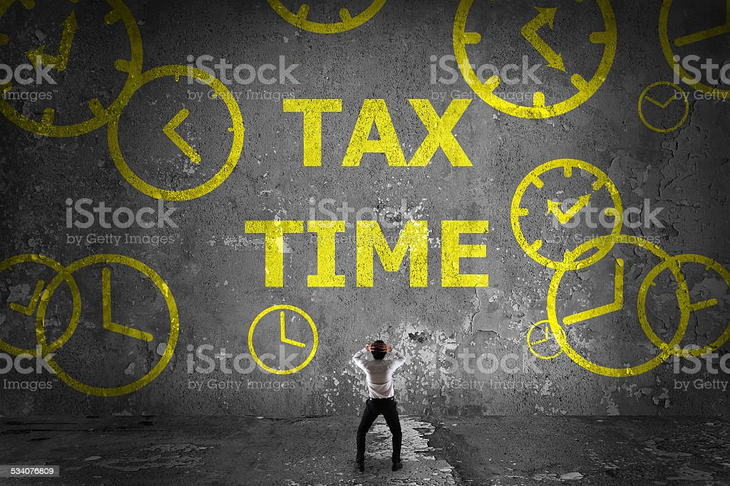 Tax time concept stock photo