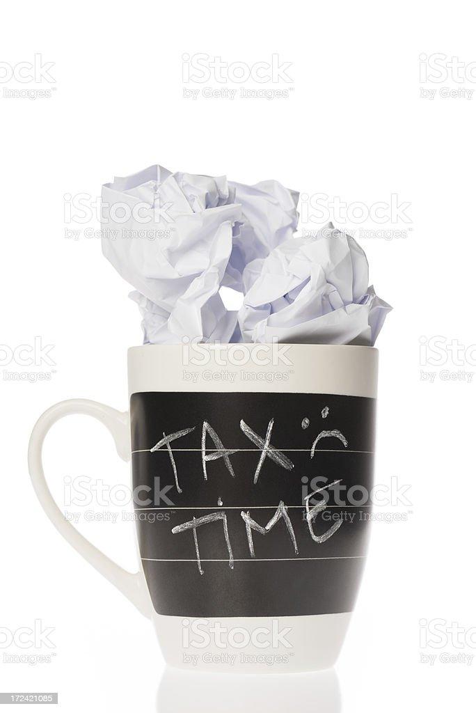 Tax time on white royalty-free stock photo