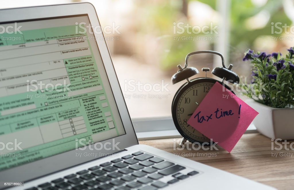tax time online stock photo