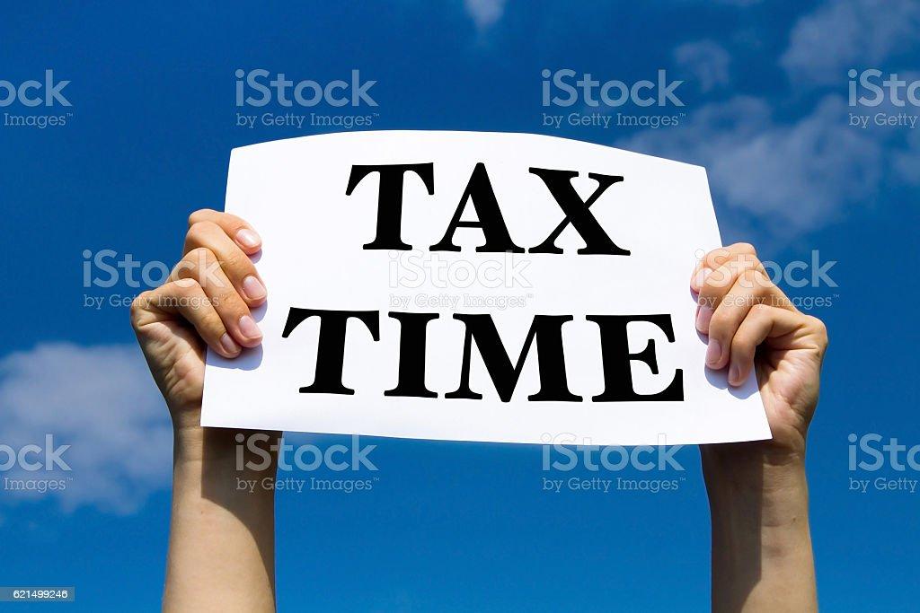 Taxes de temps photo libre de droits
