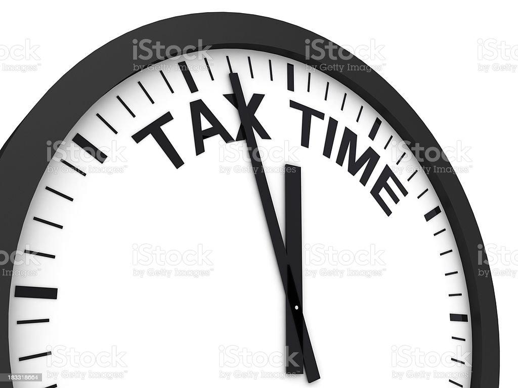 Tax Time Reminder  April Stock Photo