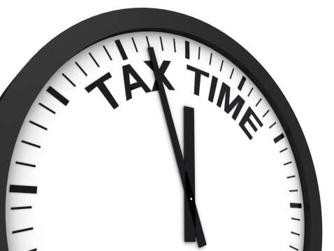 Tax Time Reminder Stock Photo - Download Image Now