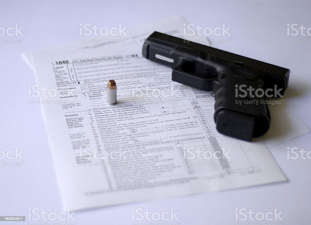 Tax Time... Rough Time II stock photo
