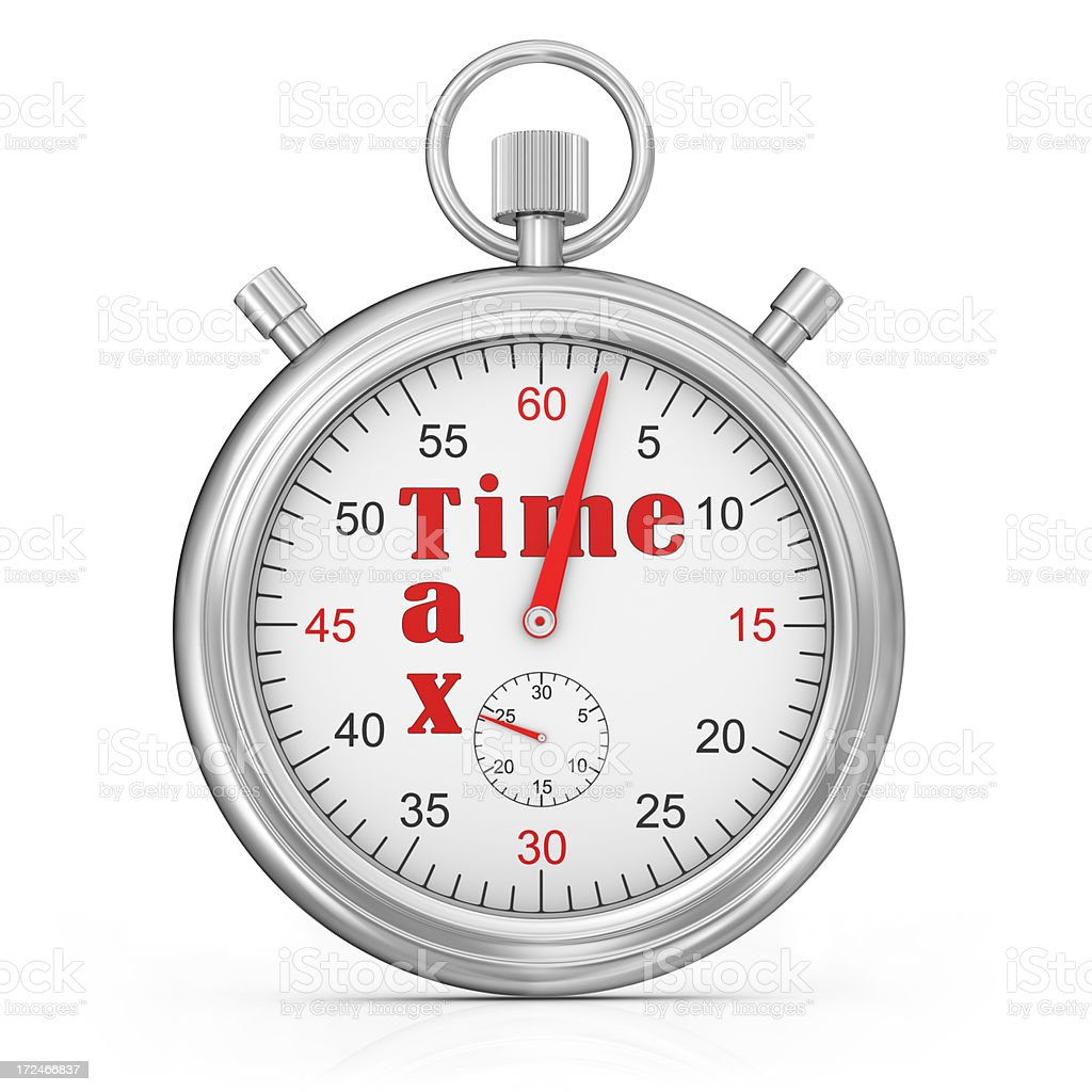 Tax Time Stopwatch Concept royalty-free stock photo