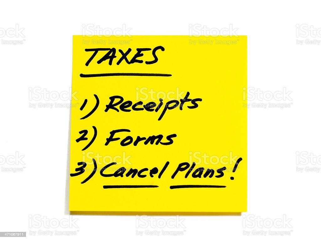 税金 to do リストのシリーズの領収書フォーム計画中止 やることリスト