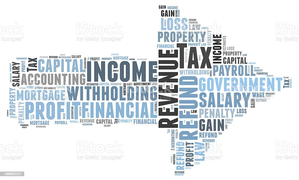 tax word cloud stock photo