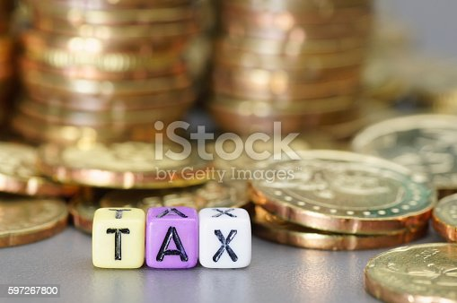 Tax Word On Dices Stock Photo & More Pictures of Alphabet