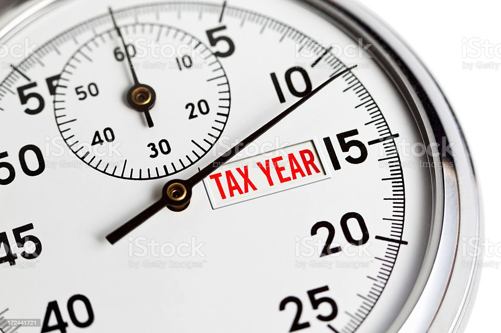 Tax Year Countdown royalty-free stock photo