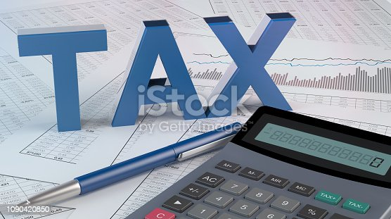 istock Taxes and accounting illustration 1090420850