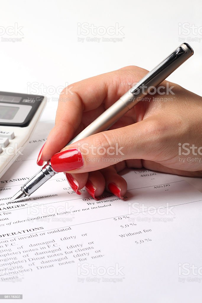 Taxes calculation royalty-free stock photo