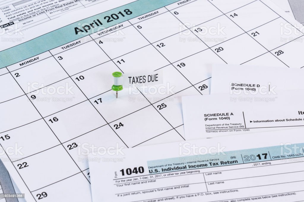 2017 Taxes Due Date stock photo