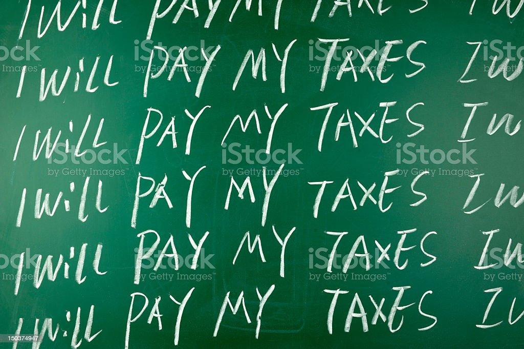 Taxes evasion royalty-free stock photo