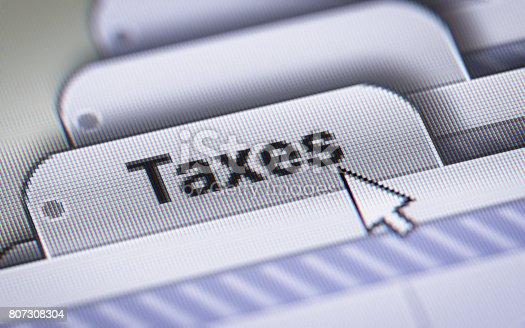 istock Taxes 807308304